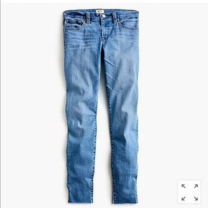 "Tall ""8 toothpick skinny jeans with side slits"